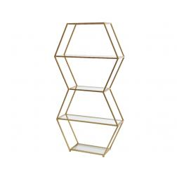 ETAGERE FER OR 23X70X139