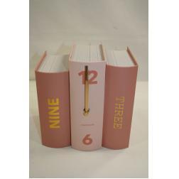 HORLOGE BOOK ROSE 20X15X20