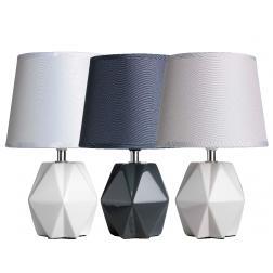 LAMPE DIAMAND GRIS 18X28.5