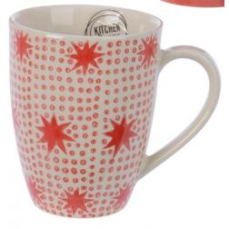 MUG PIERRE CREME POINT ROUGE