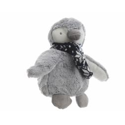 PELUCHE ENFANT BEBE PINGOUIN GRIS
