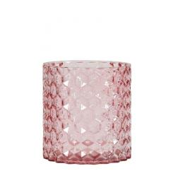 PHOTOPHORE VERRE ROSE BEZONS