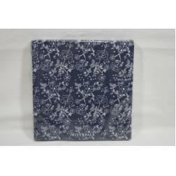 SERVIETTE papier Flowers blue 33cm