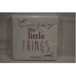SERVIETTE papier Little Things white 33cm