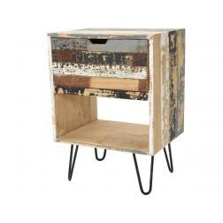 TABLE APPOINT BOIS MINDI 1 TIROIR 40X50X71