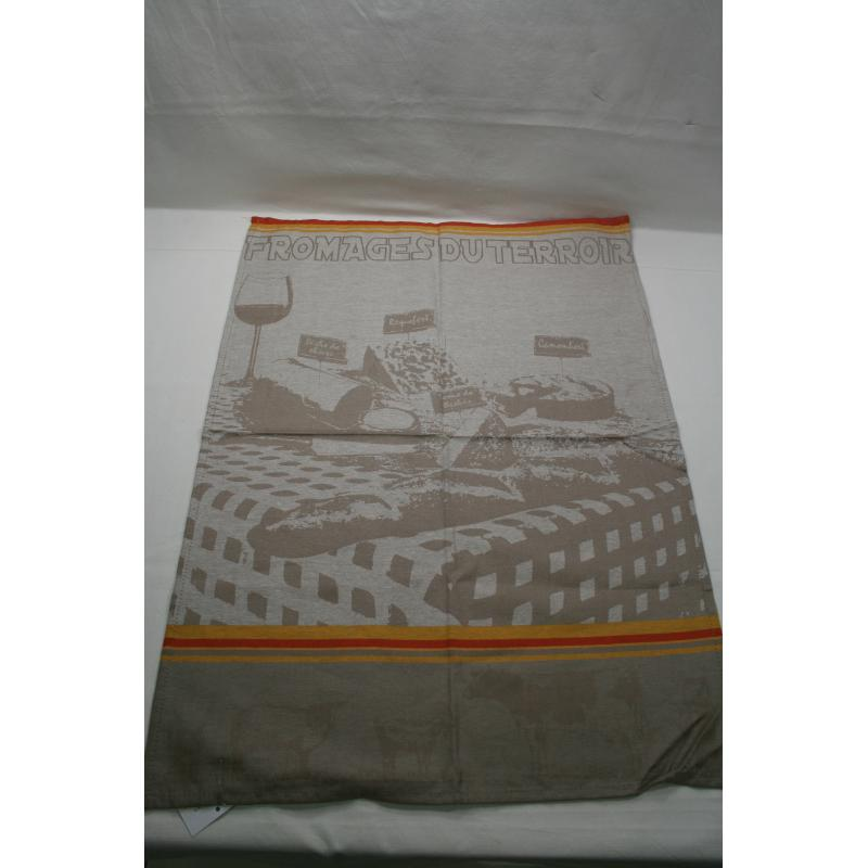 0TORCHONS FROMAGES TAUPE 50X70