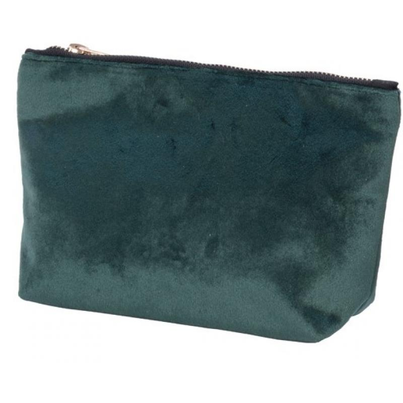 0TROUSSE MAQUILLAGE VELOUR VERTE